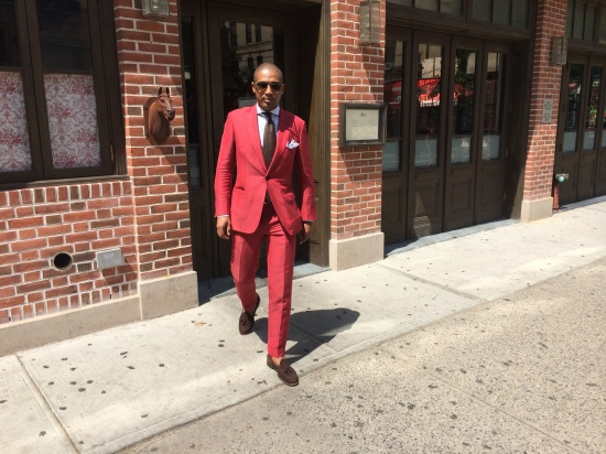 Suit by Brioni, shirt by Kamakura, tie by Valentino, shoes by Alden